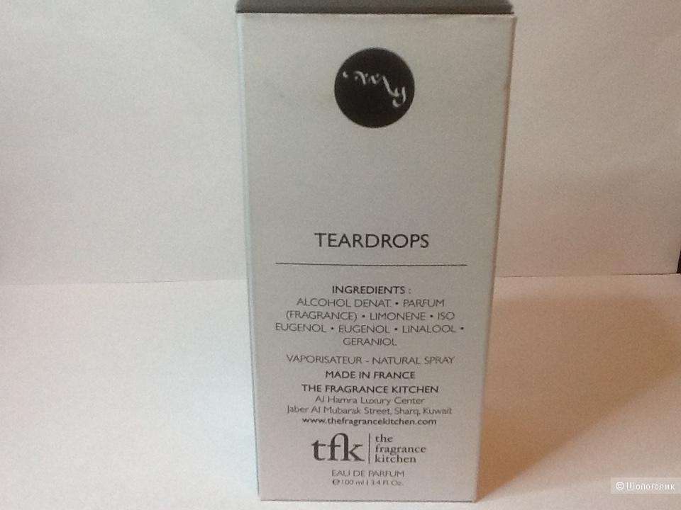 Парфюмерная вода 90/ 100 ml  Teardrops , The fragrance Kitchen.
