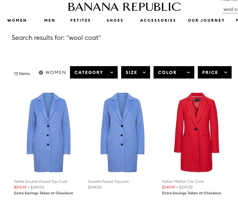 Пальто BANANA REPUBLIC S