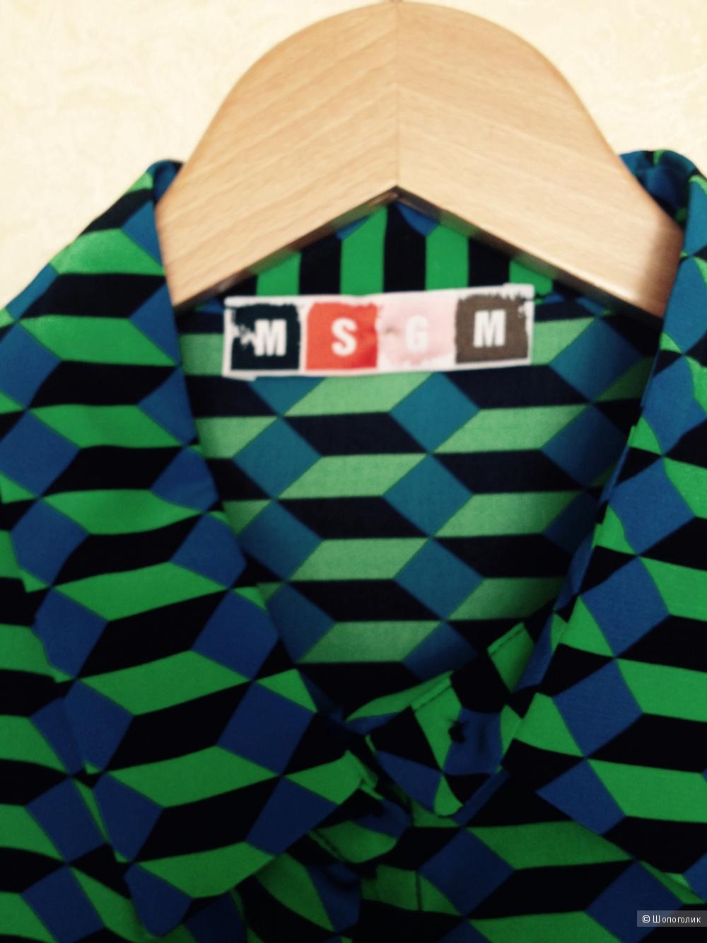 Блузка шелк Италия 42 размер msgm