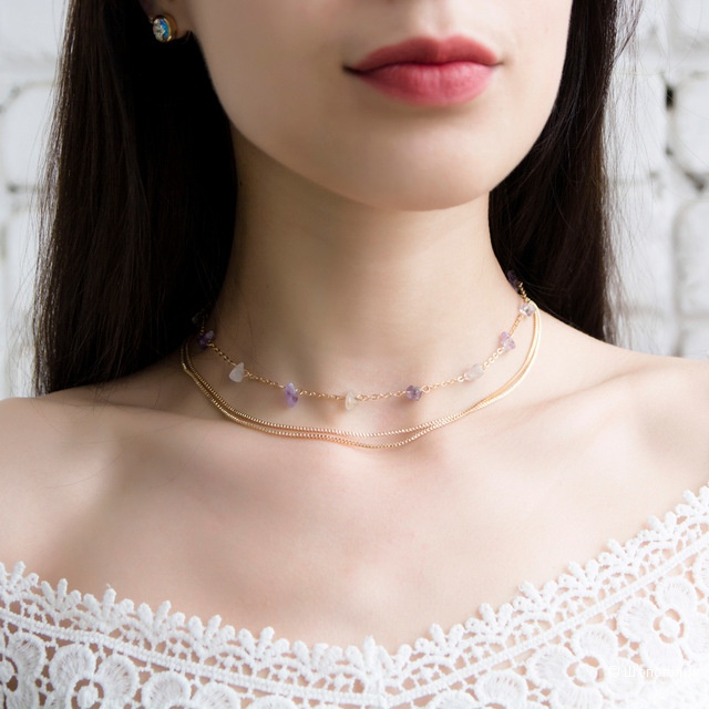 Ожерелье с аметистами Emanco