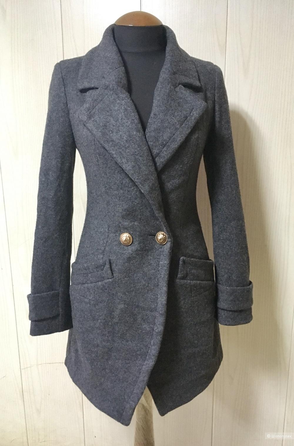 Корейское полушерстяное пальто, 42-44 размер