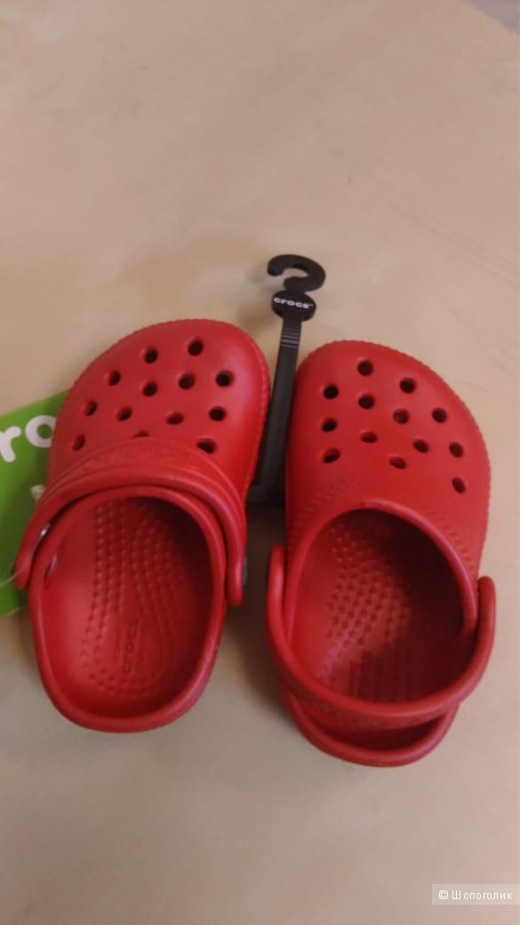 Сабо детские Crocs красные 21 р