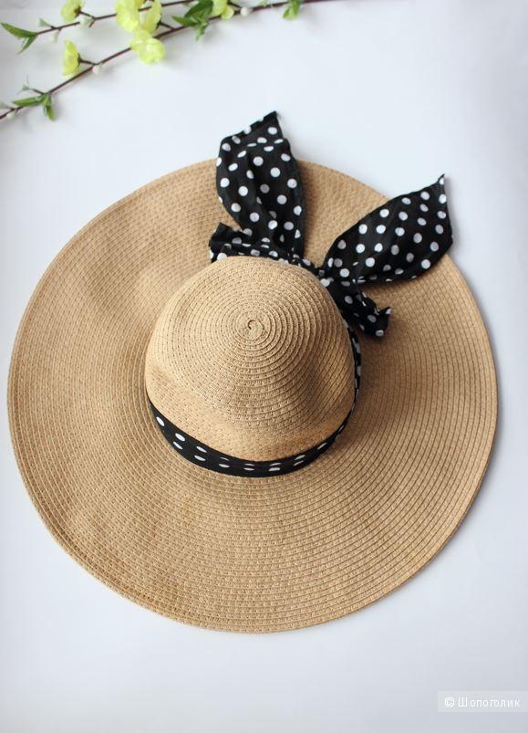 Пляжная шляпка Forever21 с широкими полями, размер S/M
