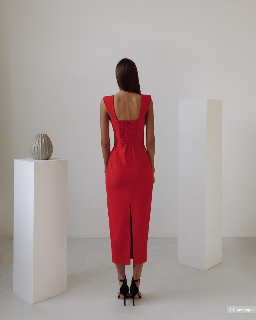 Красное платье, XS, шоурум
