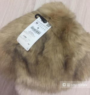 Меховая шапка Zara, размер единый M