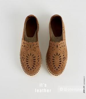Эспадрильи кожаные Zara, размер 39