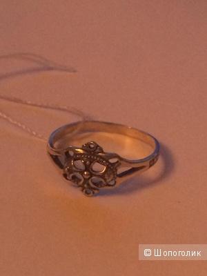 Кольцо серебро размер  18,5