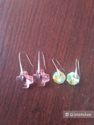 Сет бижутерии серьги с кристаллами Сваровски