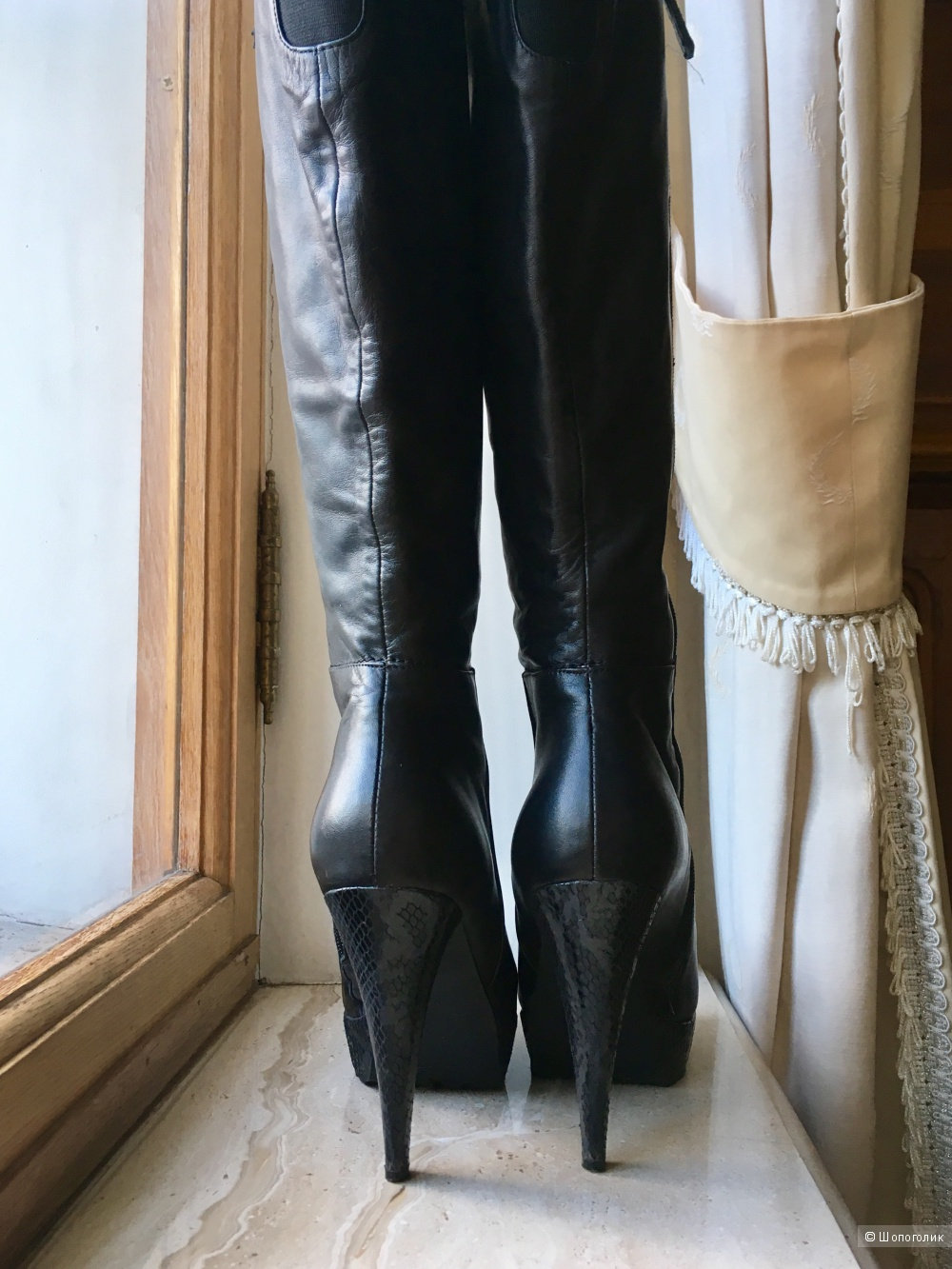 Кожаные сапоги Kristina and Milan, 38 размер