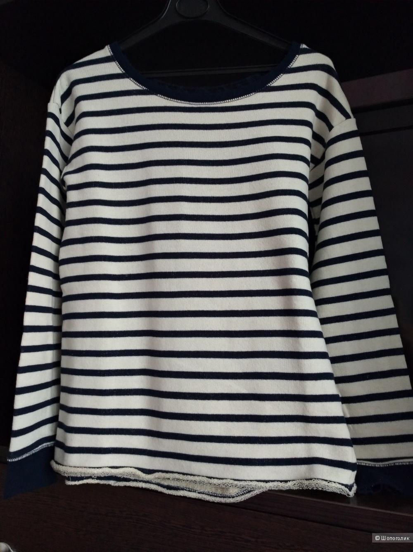 River Island Long Sleeve Lace Back Stripe Sweat, UK 6 (большемерит)