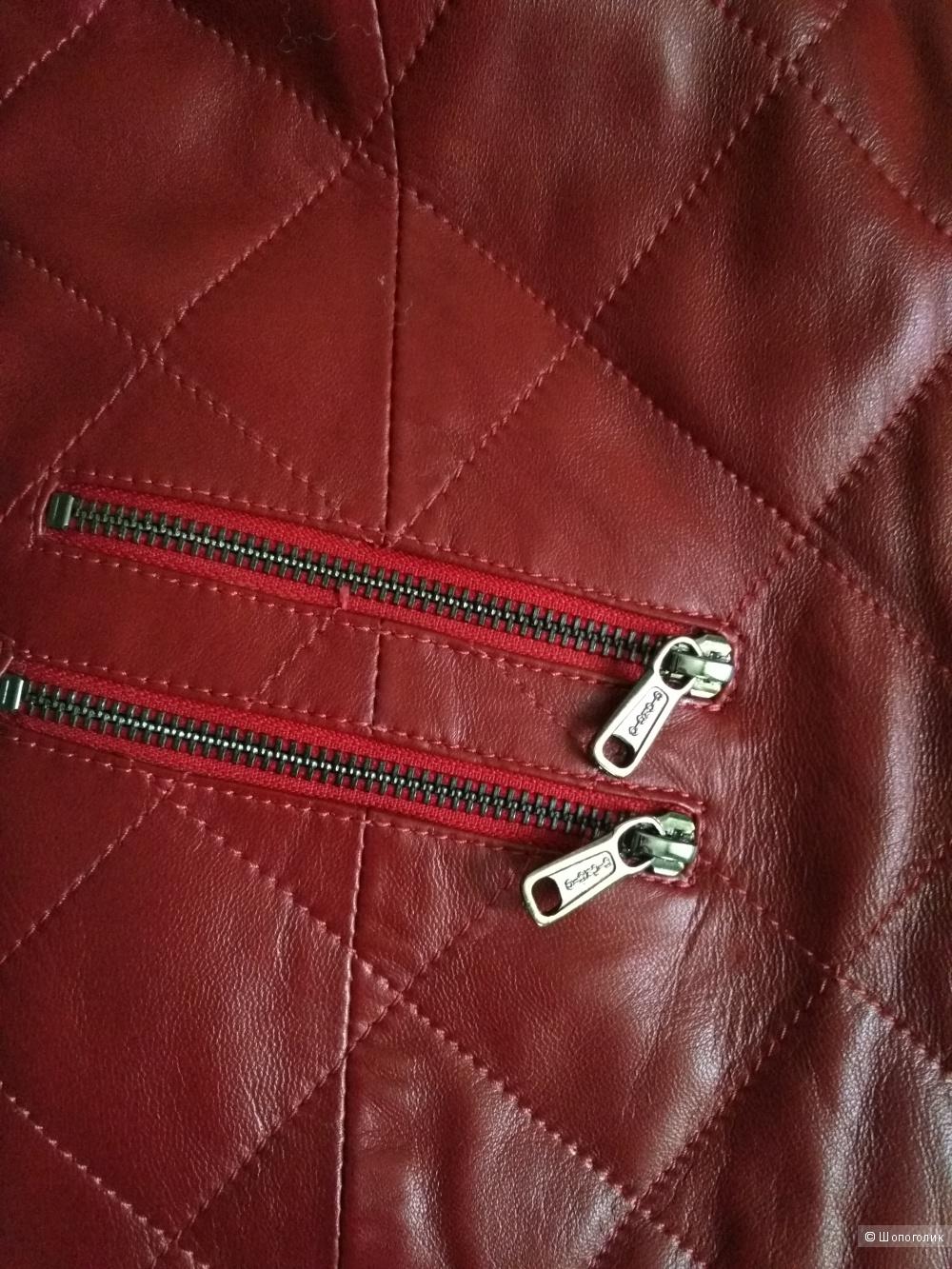 Кожаная куртка John & Yoko 46 р-р