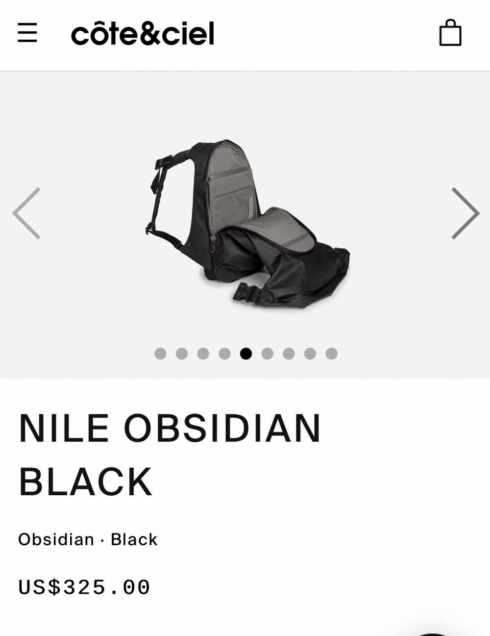 Рюкзак Cote&ciel Nile obsidian black