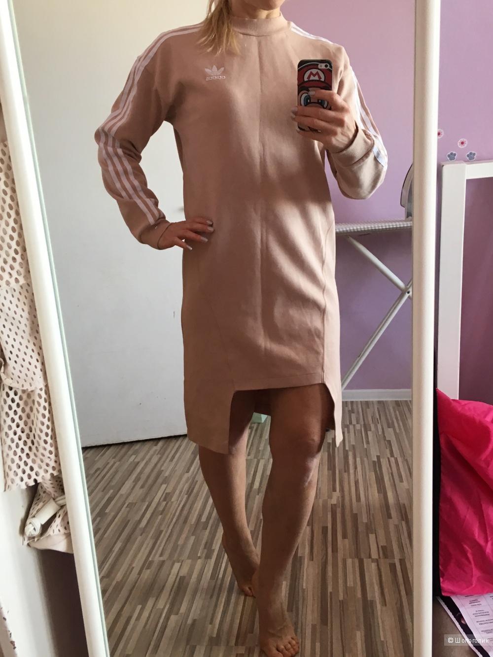 Платье-толстовка Adidas, размер S