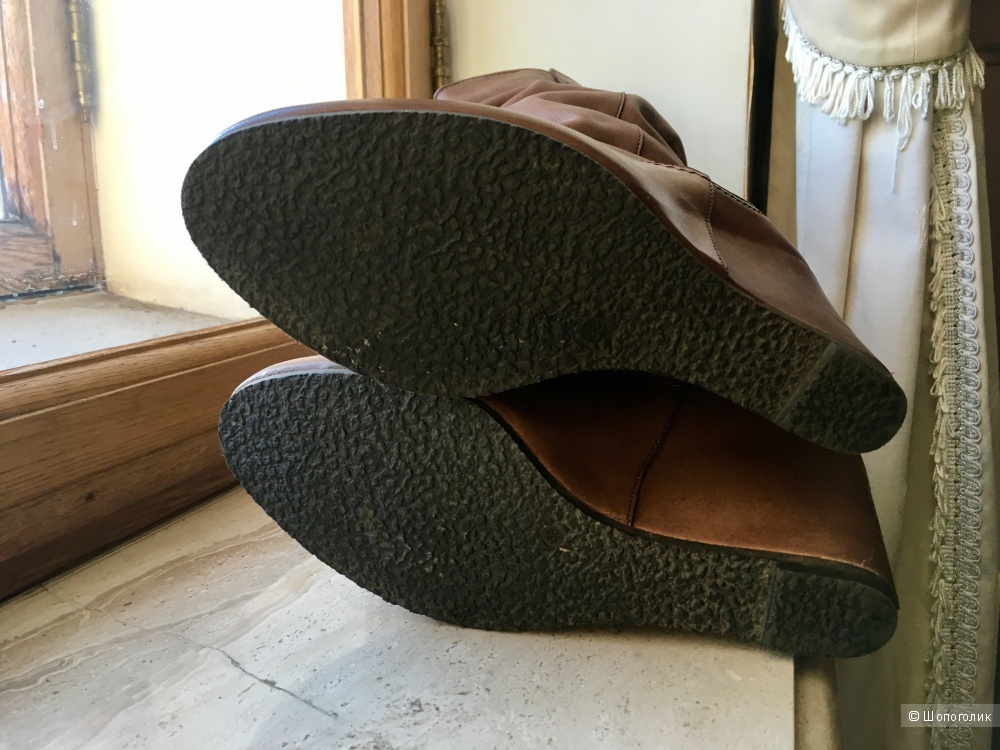Кожаные сапоги-трубы RiaRosa, 38 размер