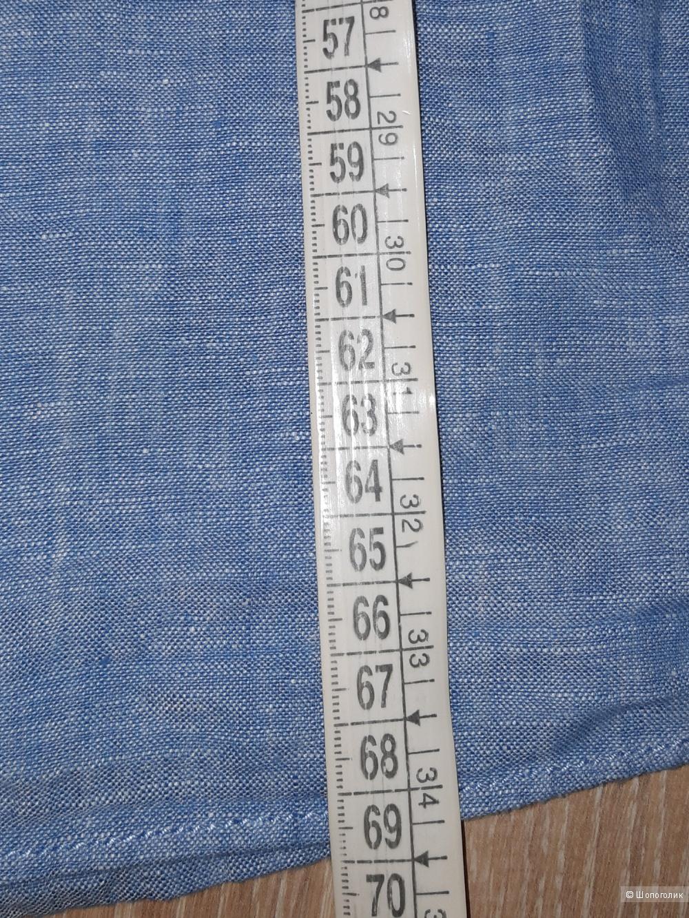 Льняная рубашка marks&spencer, размер 46/48
