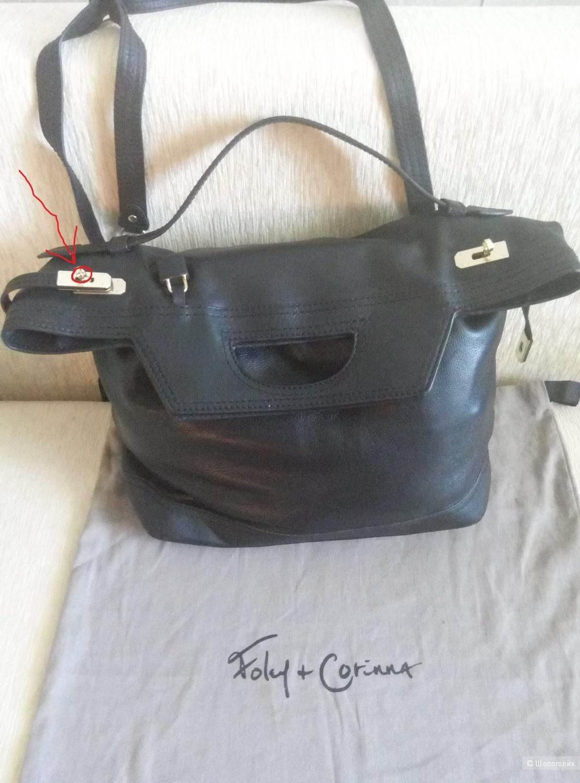 Кожаная сумка Foley+Corinna
