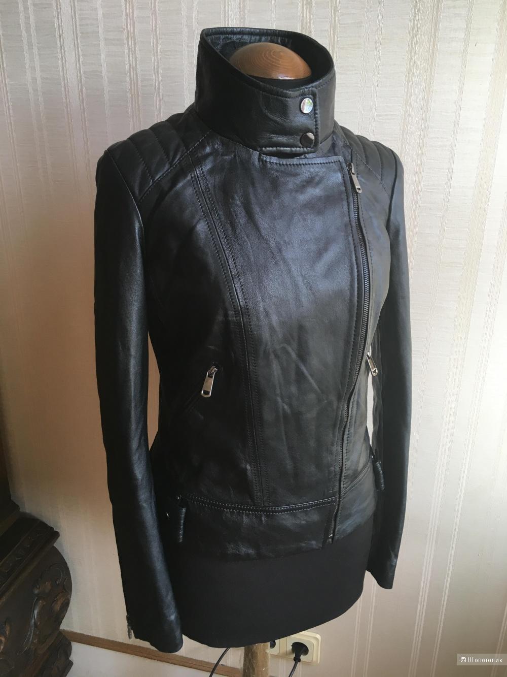 Кожаная куртка La Reine blanche, 46 размер