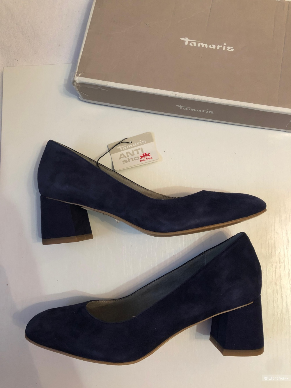 Замшевые туфли Tamaris 39 - 40 р. 26 см