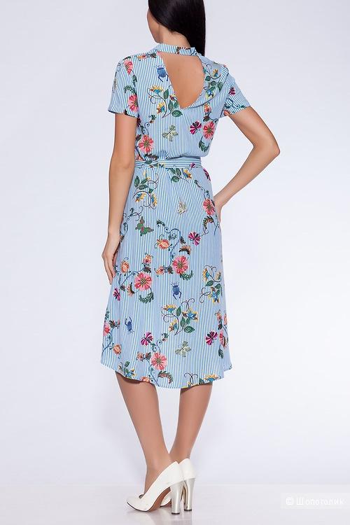 Платье Полоска/голубой