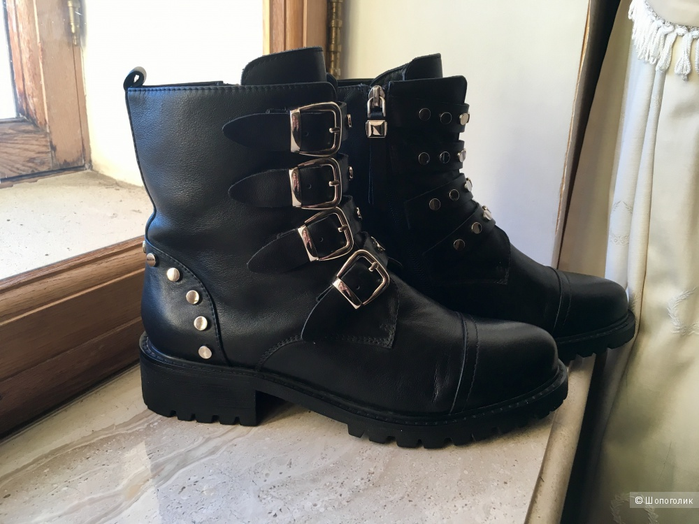 Кожаные ботинки с заклёпками Kiss Moon, 38 размер
