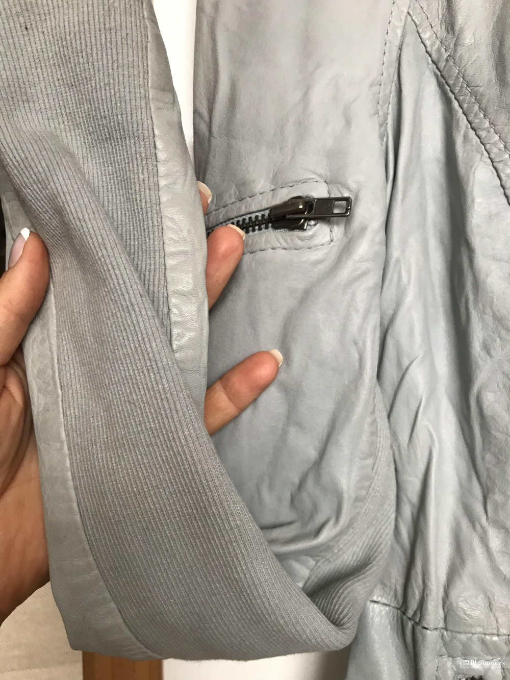 Мятно-голубая куртка Muubaa размер 8