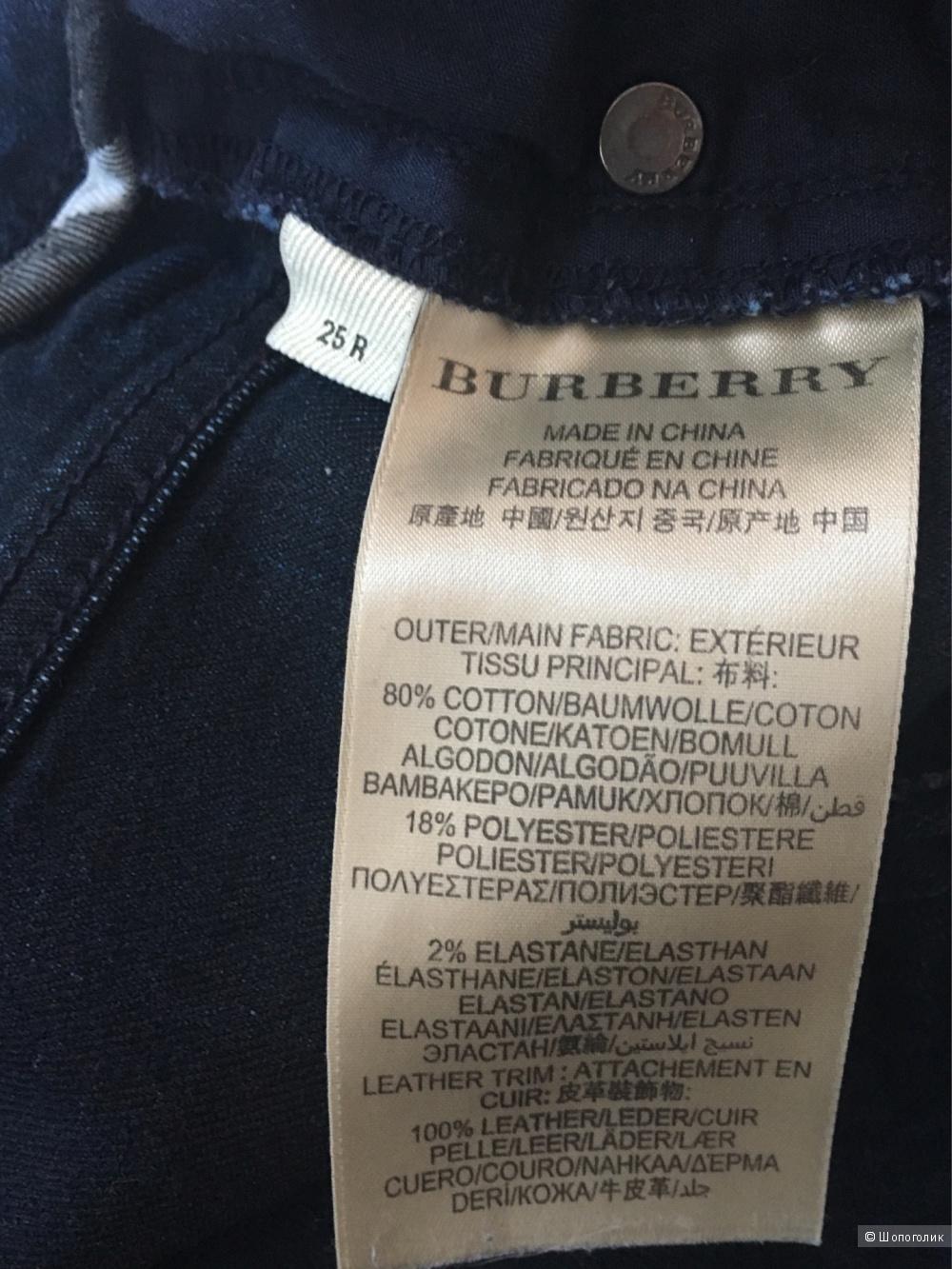 Джинсы  Burberry , 25 размер