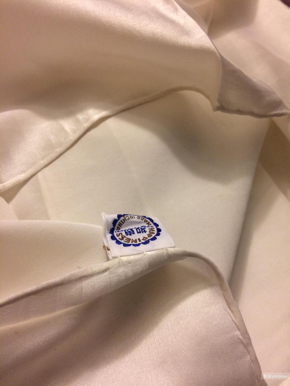 Шелковый шарф платок фабричный Китай 84х88