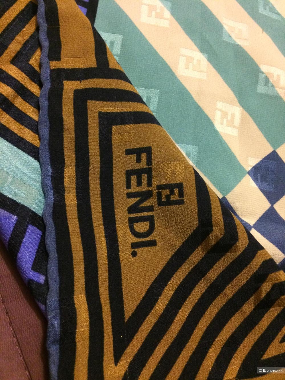 Платок винтаж Fendi 82х82