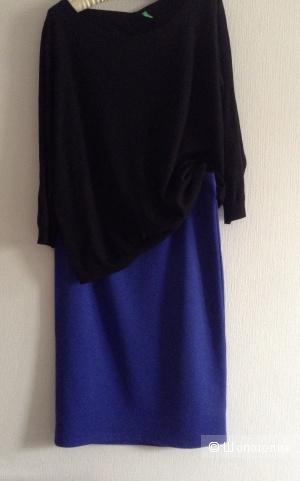 Кофта Benetton, юбка Modis, размер 46-48