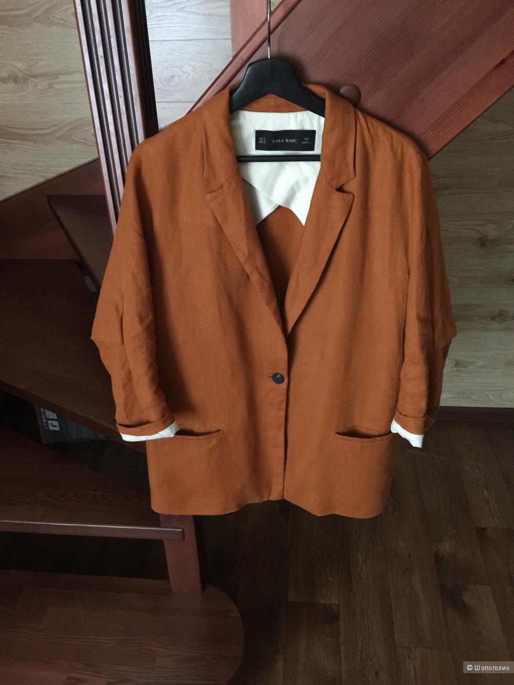 Льняной пиджак Zara, размер М