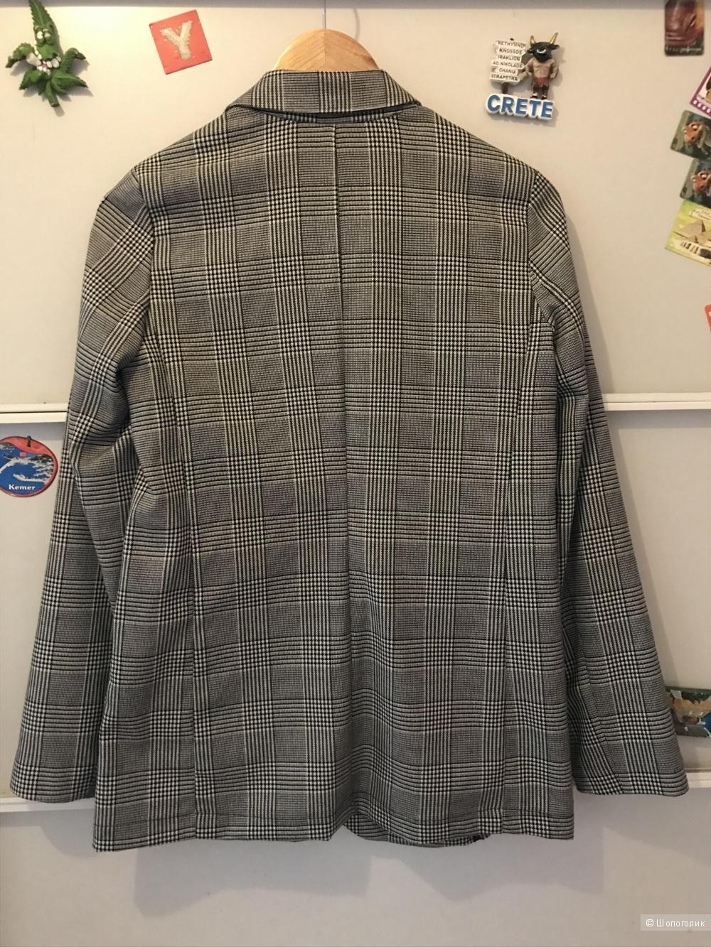 Пиджак в клетку KAOS (Италия), размер 44 (42IT)