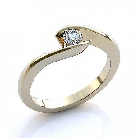 Кольцо из золота, SOKOLOV (вставка фианит), р-р 17,5