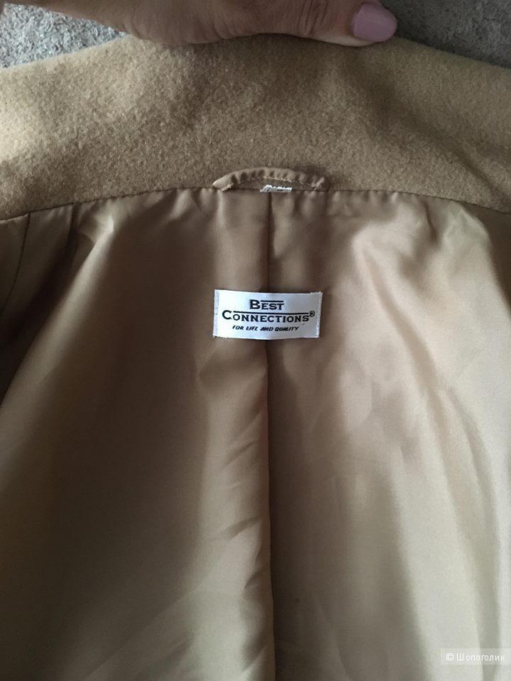 Бежевое пальто Best Connections размер 50-52