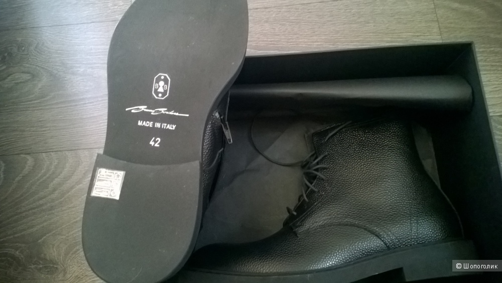 Сапоги из кожи Bruno Bordese 42 размер