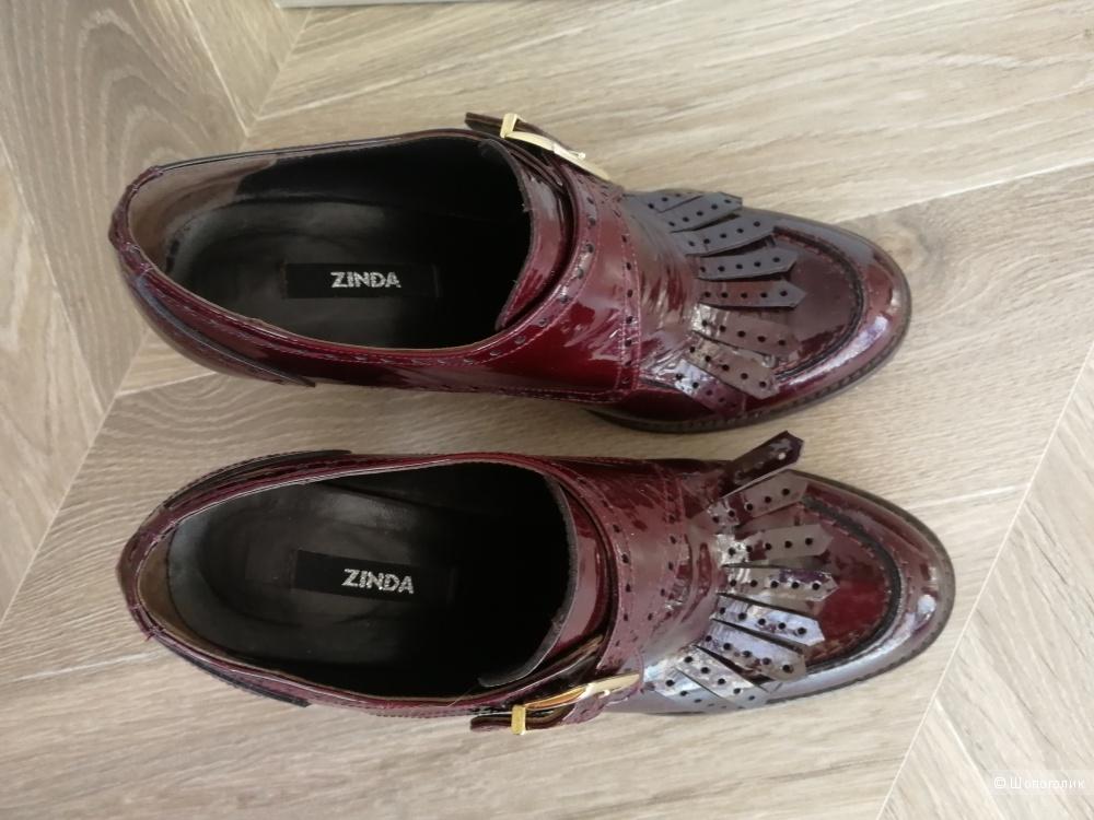 Мокасины на каблуке Zinda, размер 37