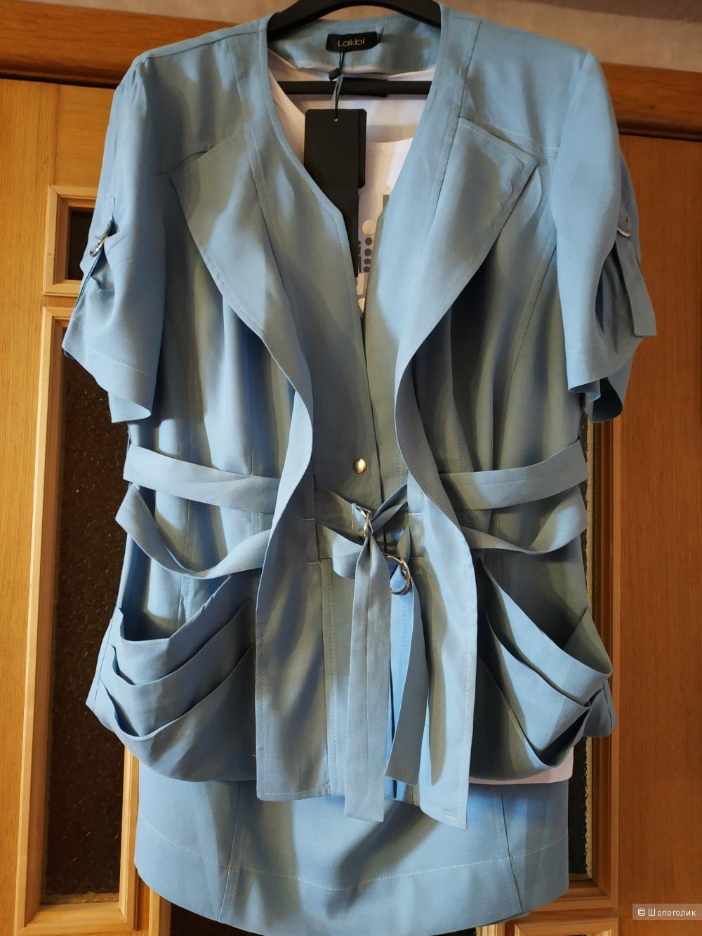 Комплект тройка Lakbi размер 52 (небольшой 54) голубой