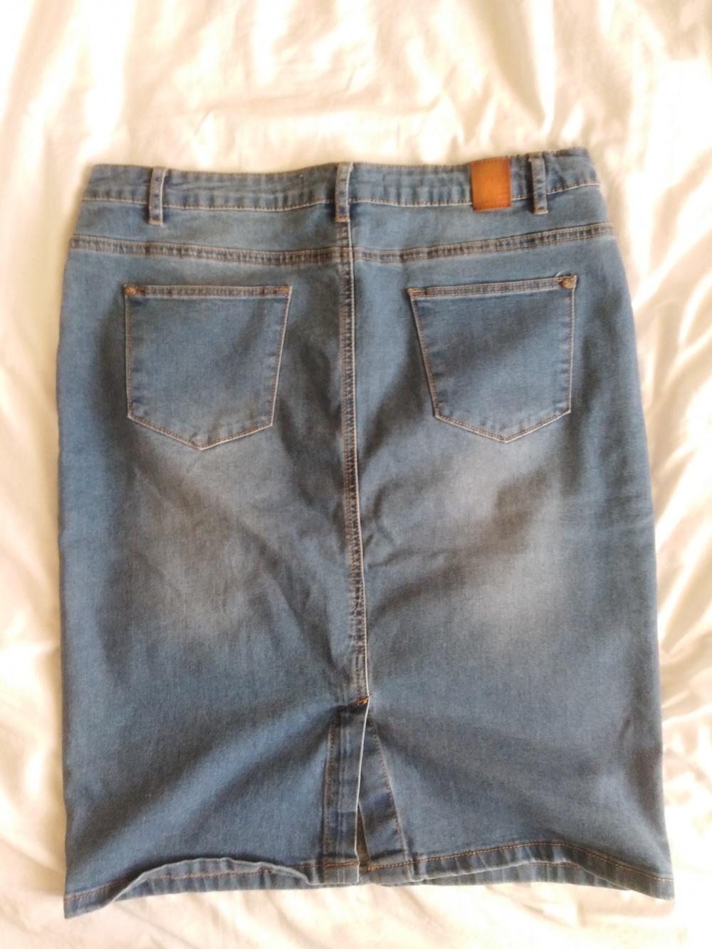 Джинсовая юбка Sela размер L (48)