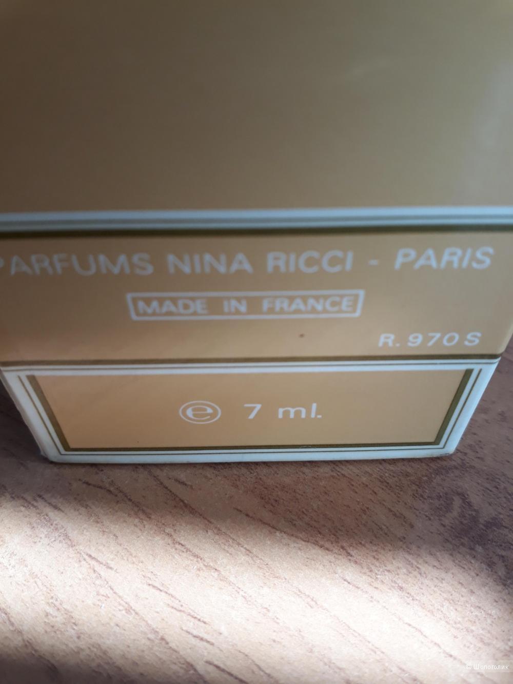Винтажные духи Nina Ricci (7 ml, незначительное выпаривание)