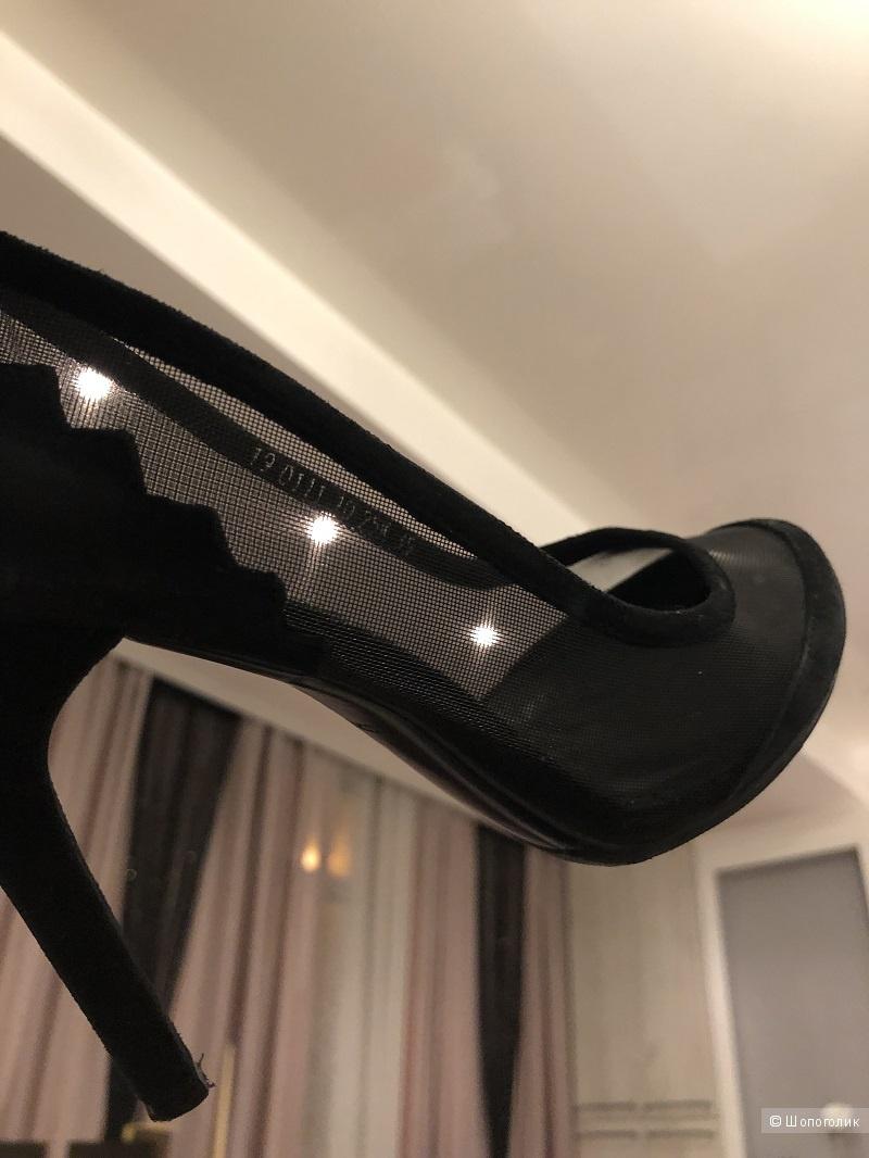 Туфли CORSOCOMO  кожа/вуаль   размер 36 - 36,5
