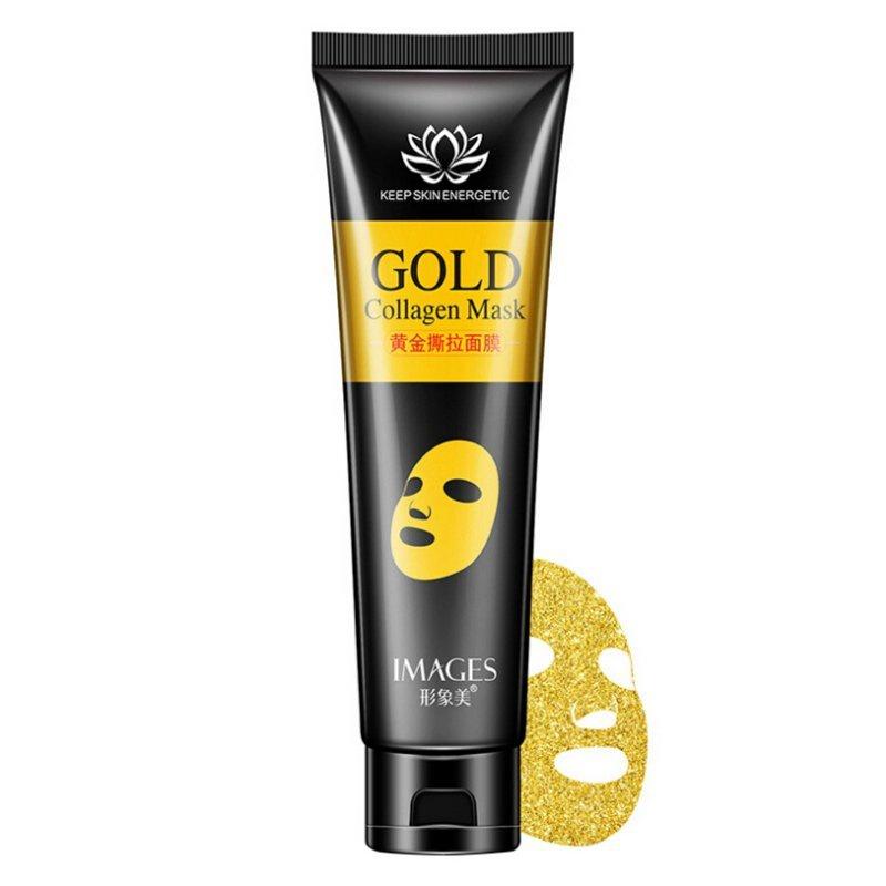 Маска плёнка Images Gold Collagen Mask с золотом и коллагеном