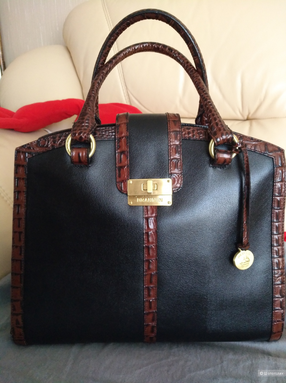 Кожаная сумка Brahmin, one size
