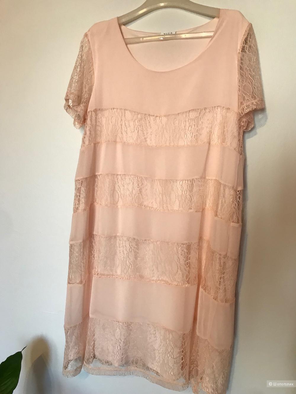 Платье с кружевной отделкой Asos, размер L
