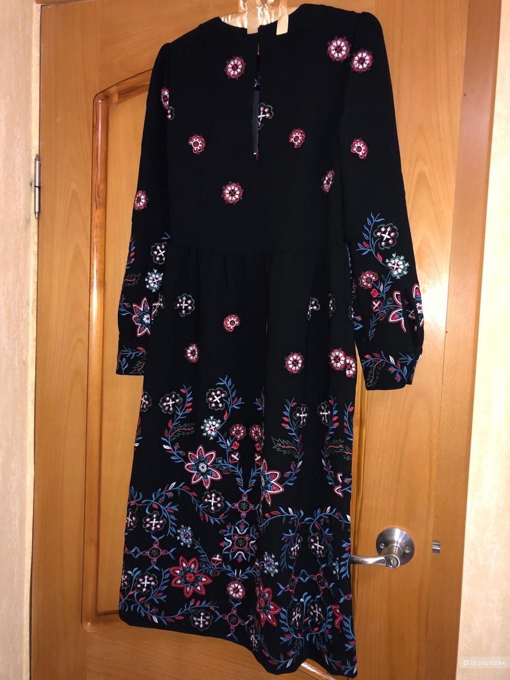 Платье с вышивкой ZARA, xs