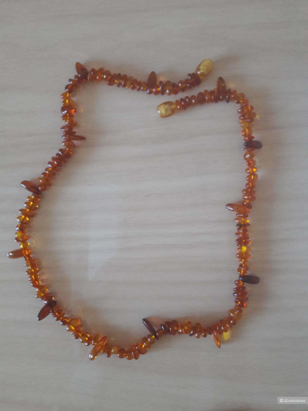 Бусы и браслет из янтаря 46 см