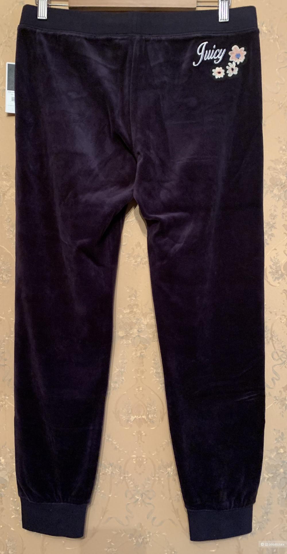 JUICY COUTURE велюровые брюки-джоггеры, размер М