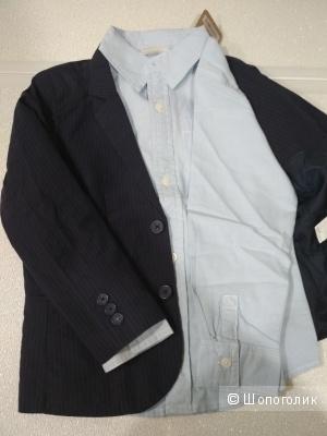 Сет пиджак palomino и рубашка crazy8 размер 6-7 лет