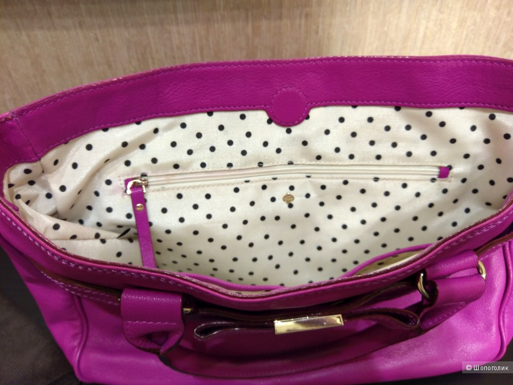 Сумка-тоут женская  - Kate Spade Primrose Hill Goldie Bag - Hot Fuschia, medium.