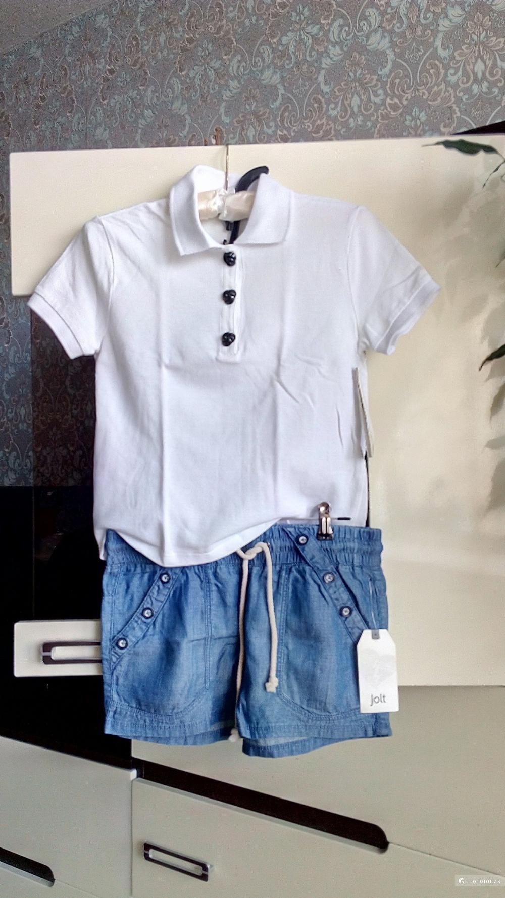 Сет рубашка-поло + шорты, размер XS