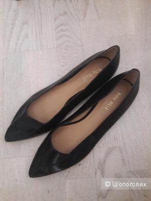 Кожаные туфли балетки Nine West 40 размера