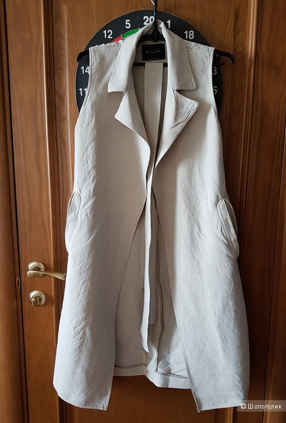 Жилет изо льна с поясом Massimo Dutti XS-S